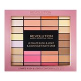 "Makeup Revolution ""Ultimate Blush, Light & Contour Palette 2018"" палетка для макияжа"