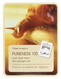 Tony Moly Тканевая маска с экстр.улиточной слизи Pureness 100 snail mask sheet, 21 мл