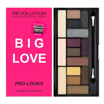 "MAKEUP REVOLUTION Палетка теней ""PRO LOOKS PALETTE, BIG LOVE"""