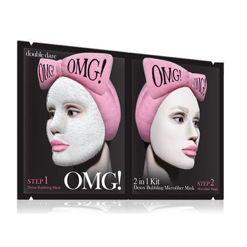 "Double Dare OMG! Маска двухкомпонентная ""2IN1 KIT DETOX BUBBLING MICROFIBER MASK"""