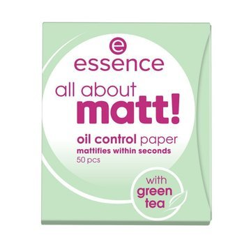 "Essence Матирующие салфетки ""ALL ABOUT MATT!! OIL CONTROL PAPER"" new formula"