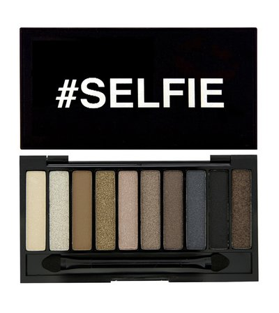 Makeup Revolution Палетка теней I Heart Makeup Slogan Palette, Selfie with mini primer