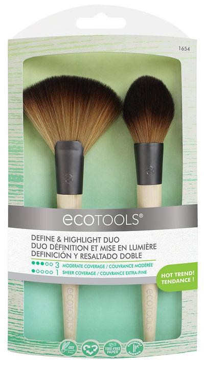 ECOTOOLS Набор кистей Define and Highlight Duo