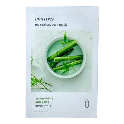 "INNISFREE Маска для лица с экстрактом бамбука ""IT'S REAL SQUEEZE MASK ВAMBOO"""
