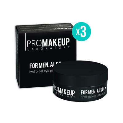 "PROMAKEUP laboratory Сет 3 гиалуроновых патчей ""FOR MEN.ALSO 15 in 1"""