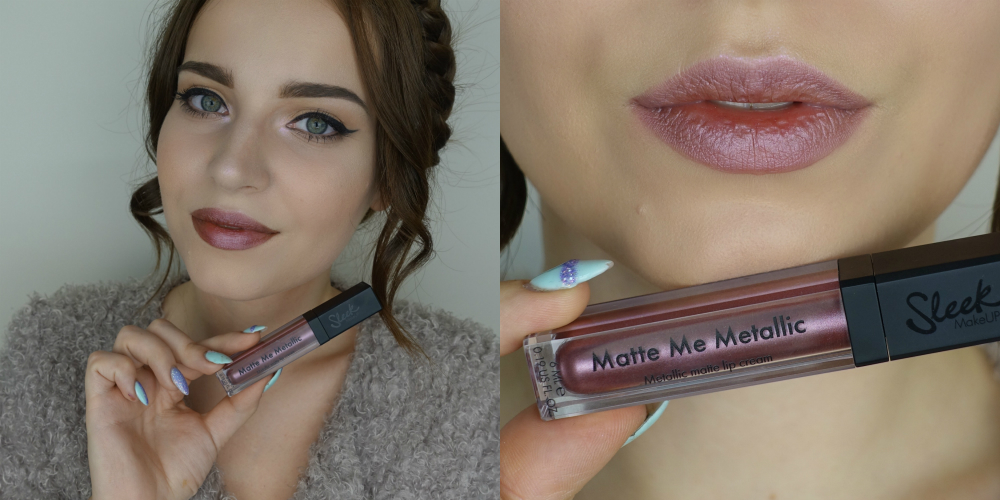 фото помады от Sleek Makeup Matte Me Metallic Rusted Rose